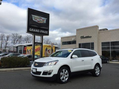Summit White 2017 Chevrolet Traverse LT AWD