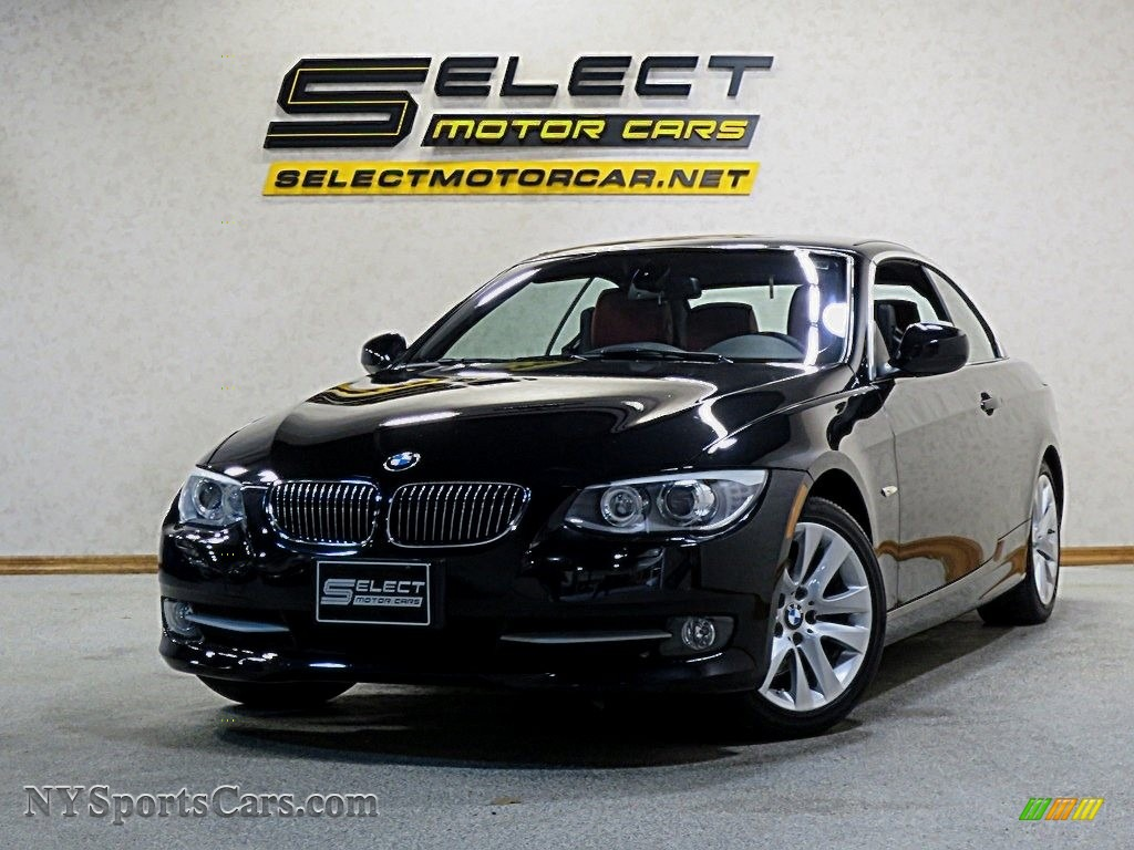 2013 3 Series 328i Convertible - Jet Black / Coral Red/Black photo #1