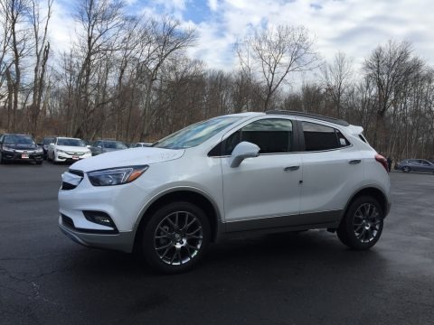 White Frost Tricoat 2017 Buick Encore Sport Touring AWD