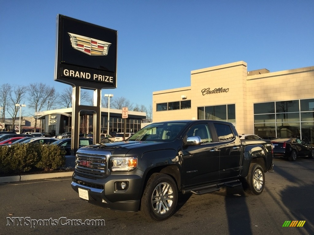 Cyber Gray Metallic / Jet Black GMC Canyon SLT Crew Cab 4x4