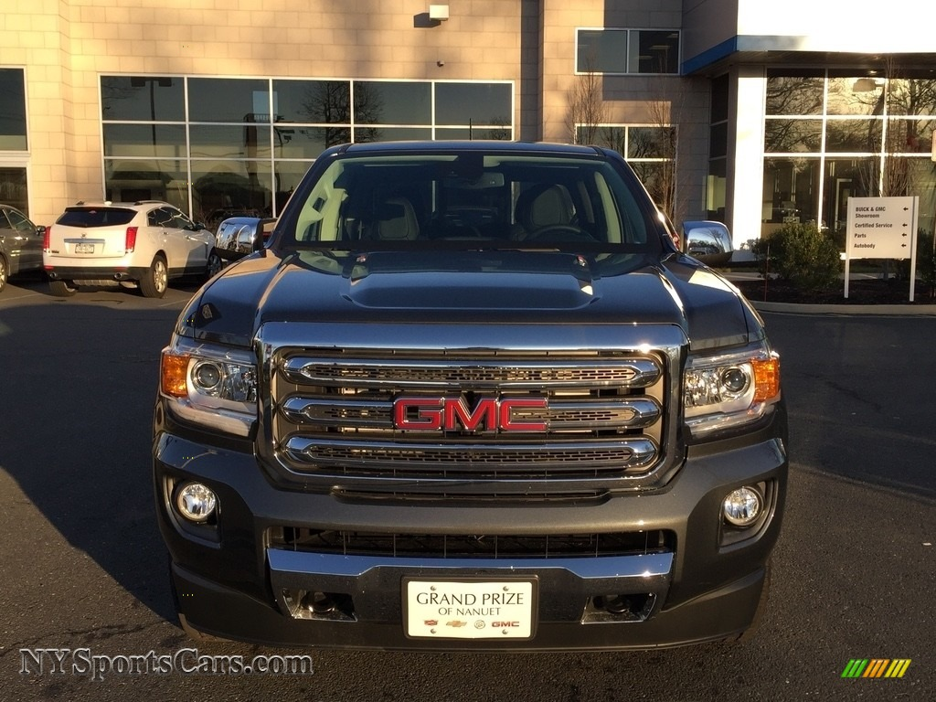 2017 Canyon SLT Crew Cab 4x4 - Cyber Gray Metallic / Jet Black photo #2