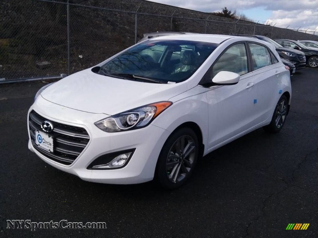 2017 Elantra GT  - Ceramic White / Beige photo #1