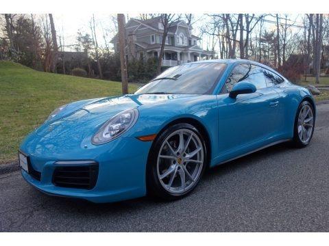 Miami Blue 2017 Porsche 911 Carrera 4 Coupe