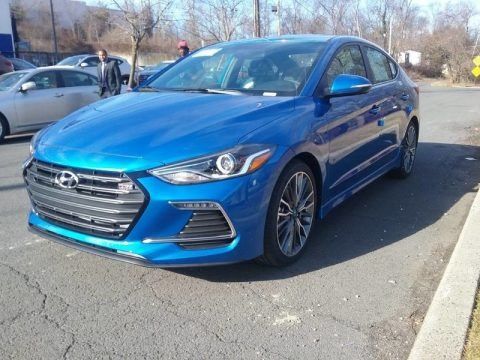 Electric Blue 2017 Hyundai Elantra Sport