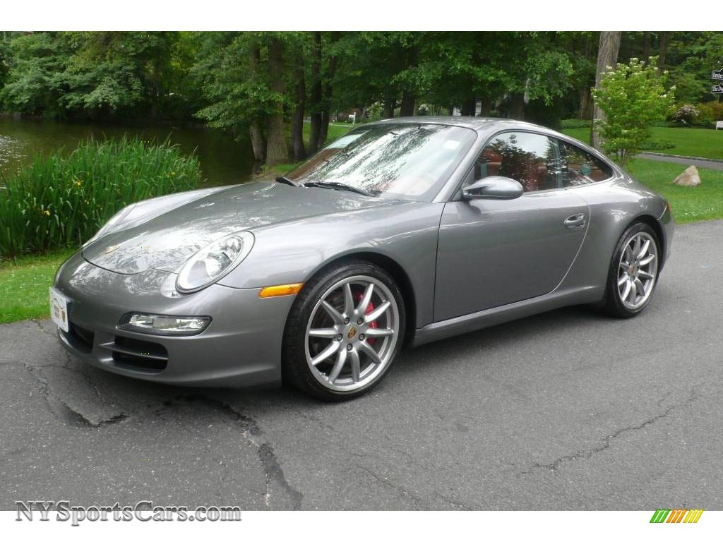 2006 911 Carrera S Coupe - Seal Grey Metallic / Terracotta photo #1