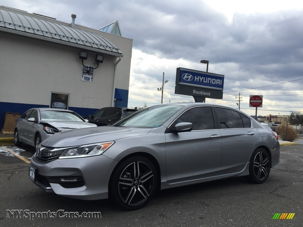 2016 Accord Sport Sedan - Lunar Silver Metallic / Black photo #1