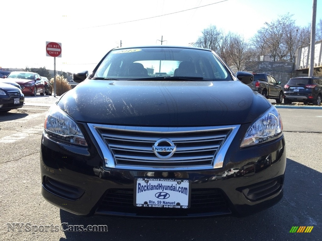 2014 Sentra S - Super Black / Charcoal photo #2