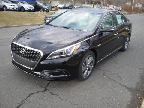 Eclipse Black 2017 Hyundai Sonata Limited Hybrid