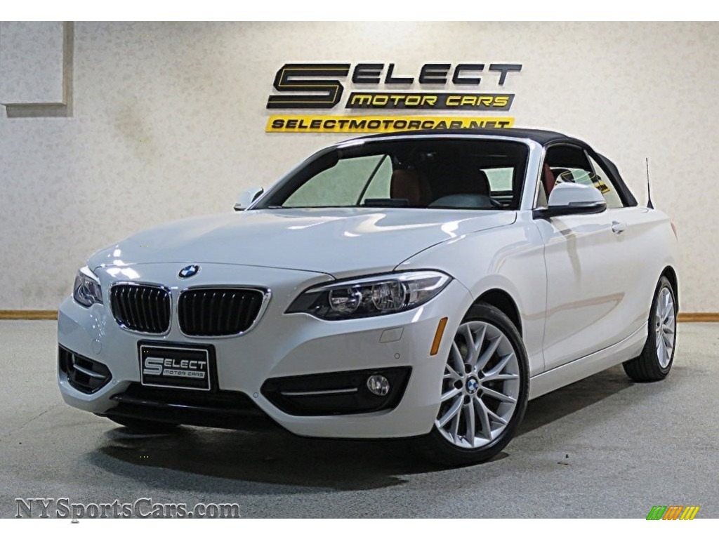 Alpine White / Coral Red BMW 2 Series 228i xDrive Convertible