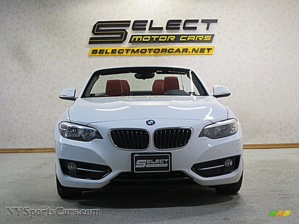 2016 2 Series 228i xDrive Convertible - Alpine White / Coral Red photo #5