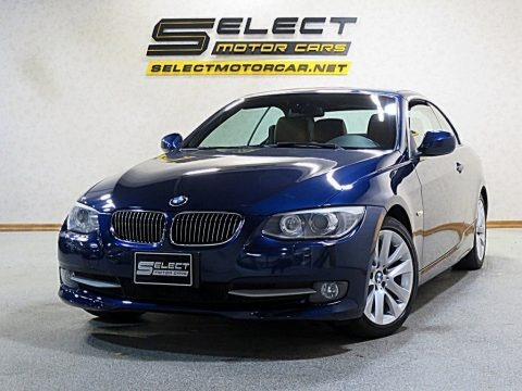 Deep Sea Blue Metallic 2011 BMW 3 Series 328i Convertible
