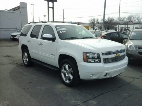 Summit White 2013 Chevrolet Tahoe LT 4x4