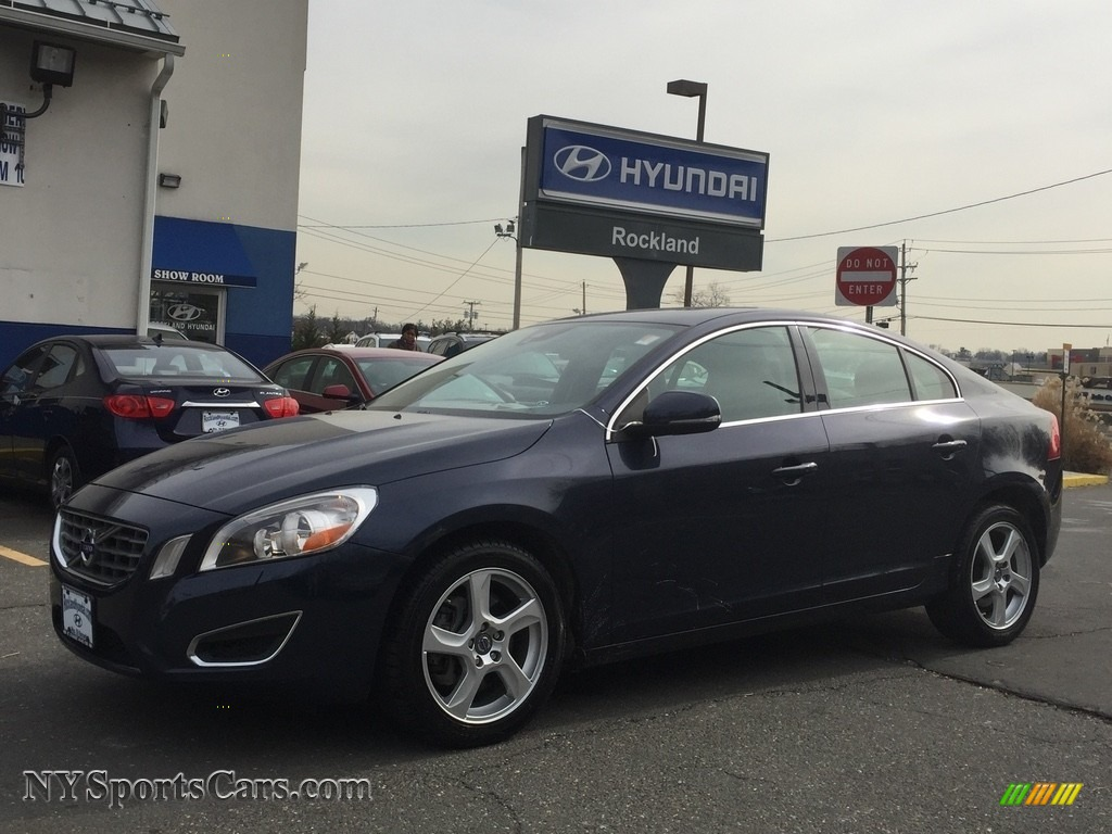2013 S60 T5 - Caspian Blue Metallic / Beechwood/Off Black photo #1