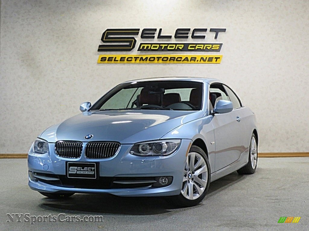 2013 3 Series 328i Convertible - Liquid Blue Metallic / Coral Red/Black photo #1