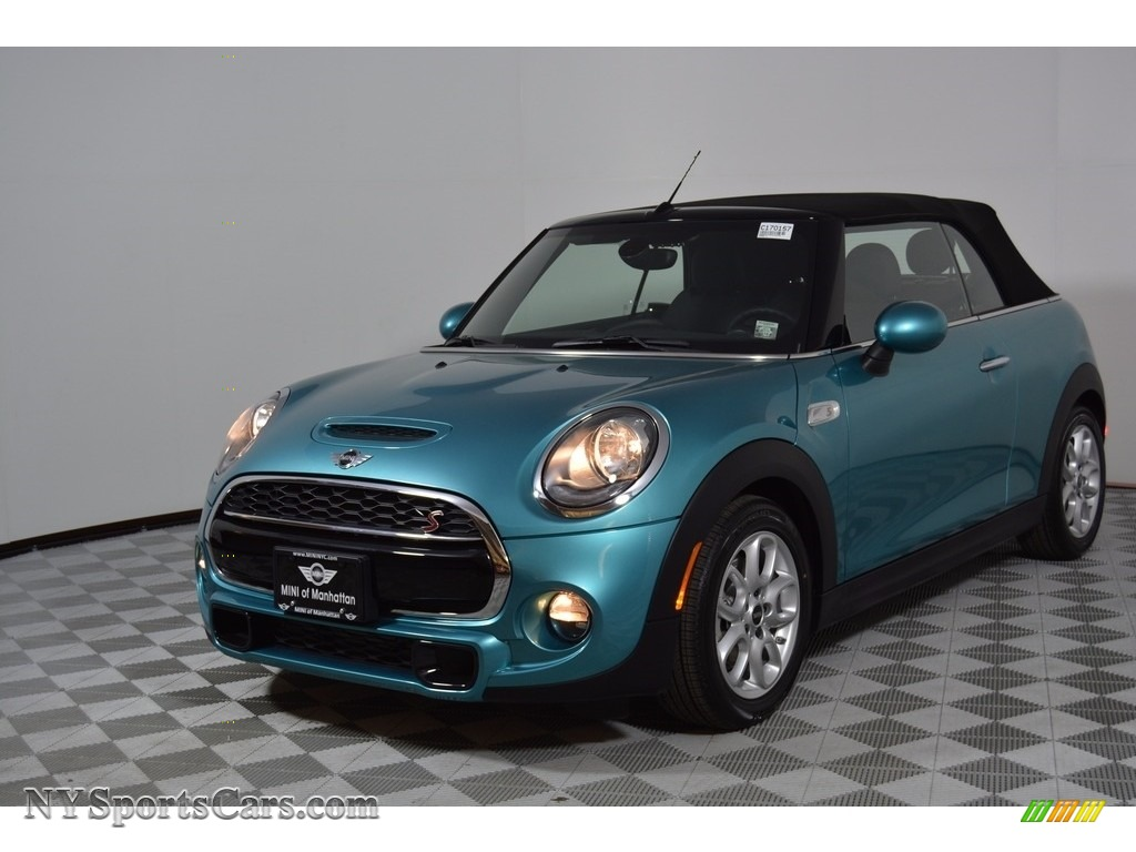 2017 Convertible Cooper S - Caribbean Aqua / Carbon Black photo #1