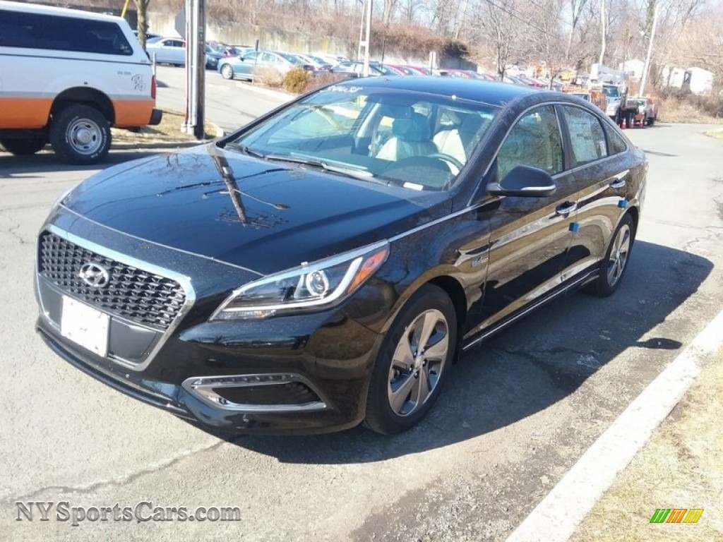 2017 Sonata Limited Hybrid - Eclipse Black / Beige photo #1