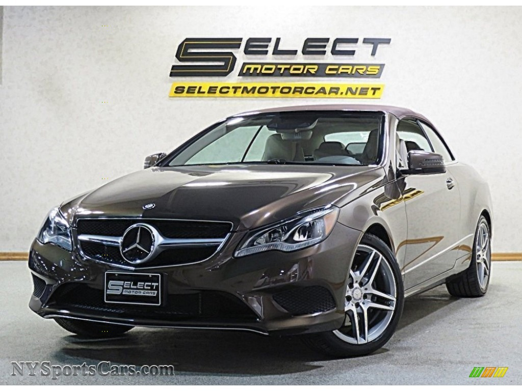 2014 E 350 Cabriolet - Dolomite Brown Metallic / Silk Beige/Espresso Brown photo #1