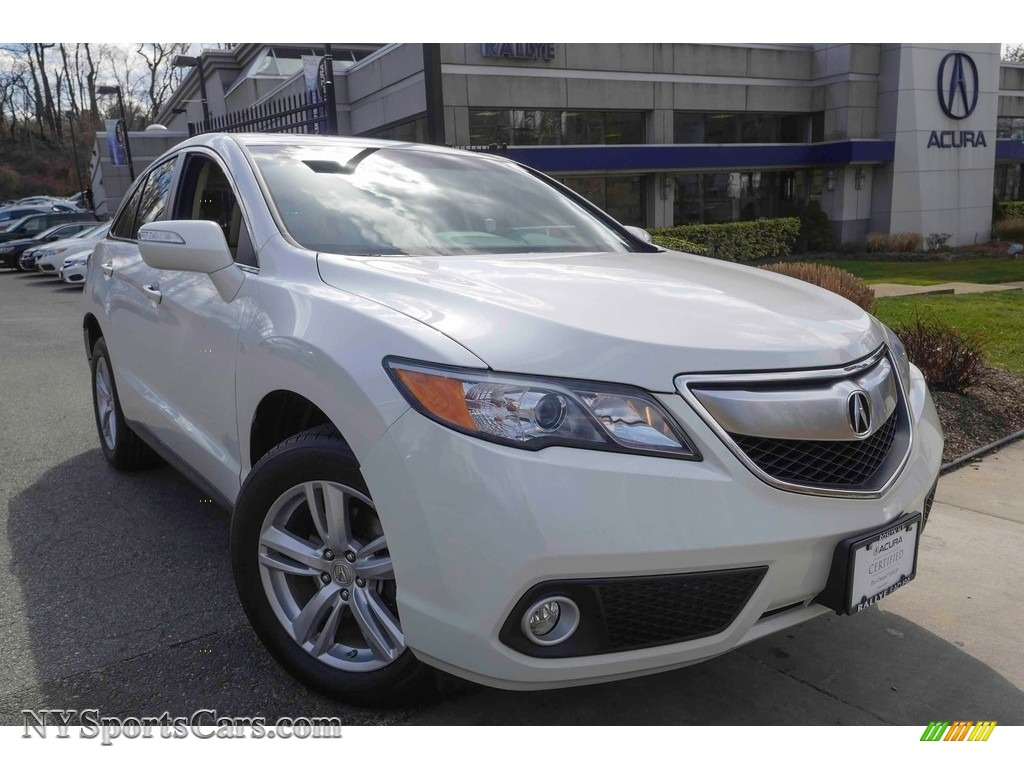 2014 RDX Technology AWD - White Diamond Pearl / Parchment photo #1