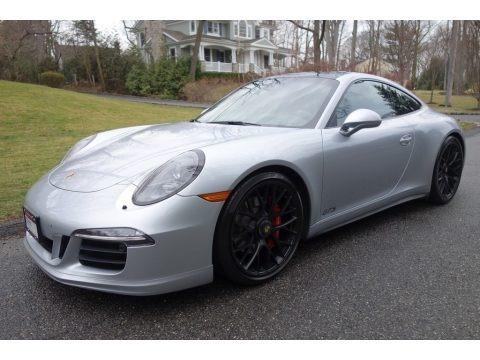 Rhodium Silver Metallic 2015 Porsche 911 Carrera GTS Coupe