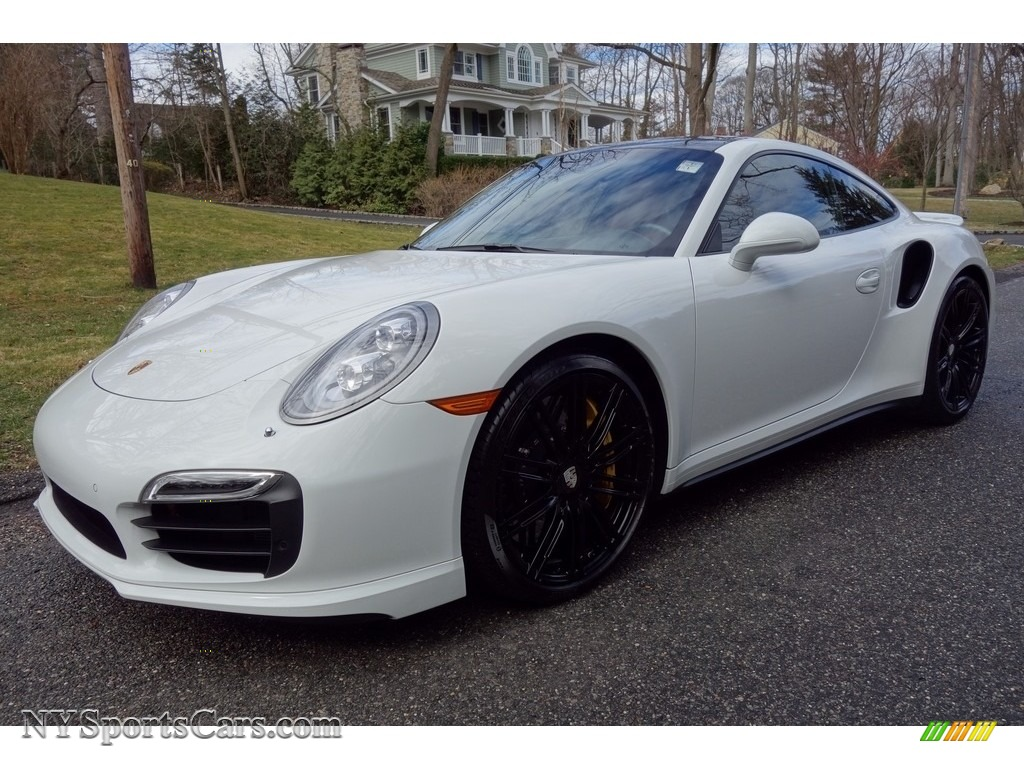 2014 911 Turbo S Coupe - White / Carrera Red Natural Leather photo #1