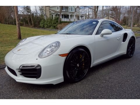 White 2014 Porsche 911 Turbo S Coupe
