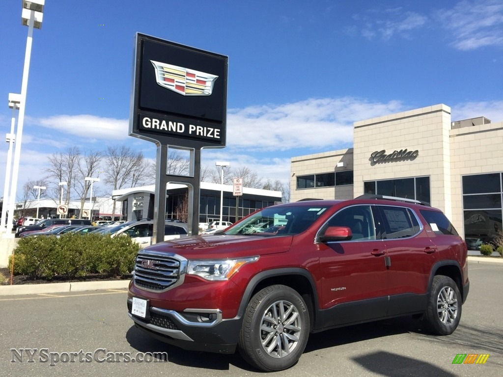 Crimson Red Tintcoat / Jet Black GMC Acadia SLE AWD