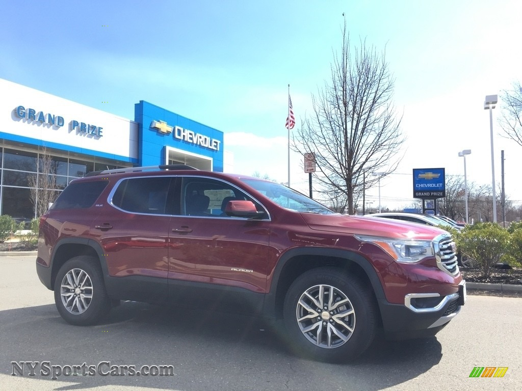 2017 Acadia SLE AWD - Crimson Red Tintcoat / Jet Black photo #3