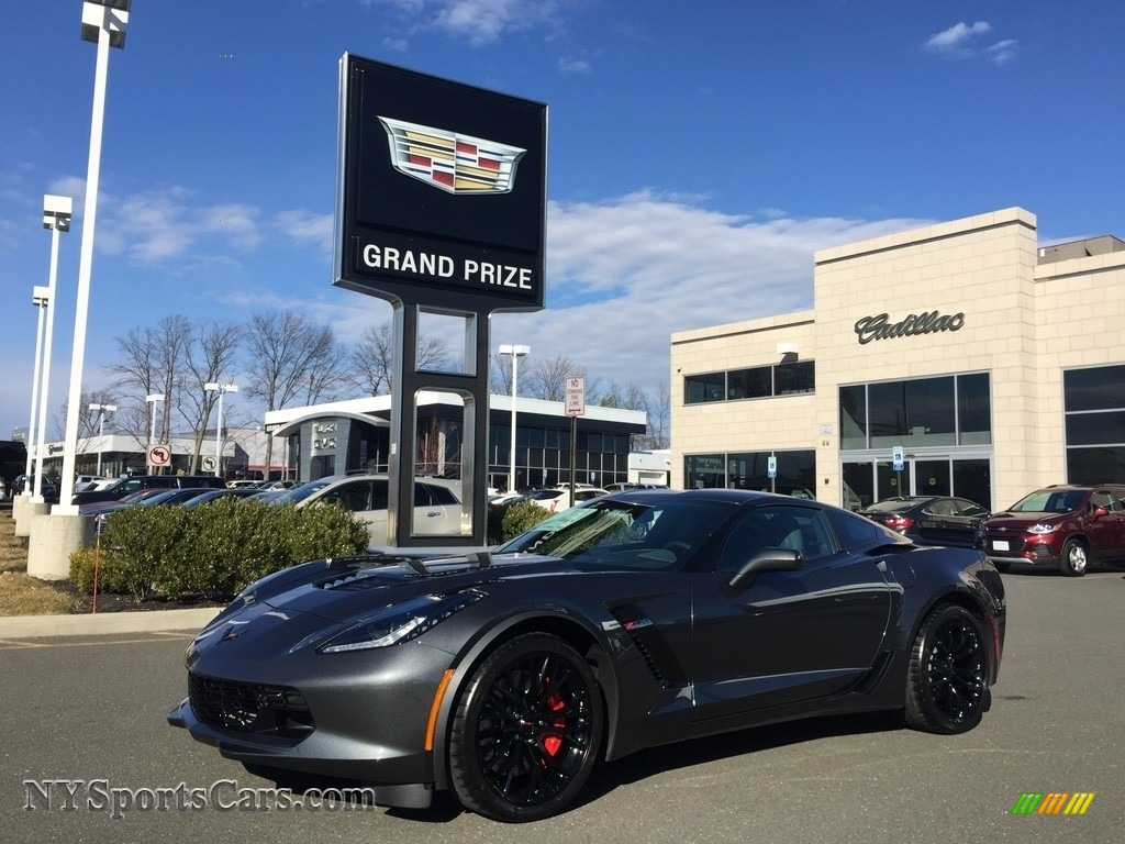 2017 Corvette Z06 Coupe - Watkins Glen Gray Metallic / Gray photo #1