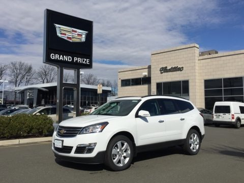 Summit White 2017 Chevrolet Traverse LT AWD