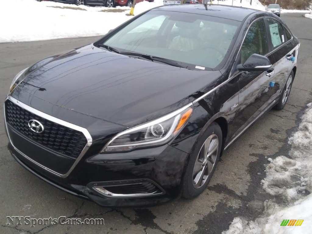 2017 Sonata Limited Hybrid - Phantom Black / Beige photo #1