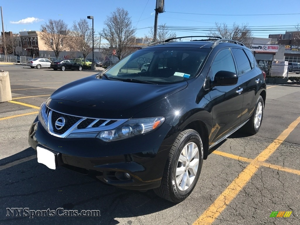 2012 Murano SL AWD - Super Black / Black photo #1
