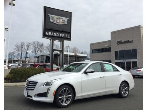 Crystal White Tricoat 2017 Cadillac CTS Luxury AWD