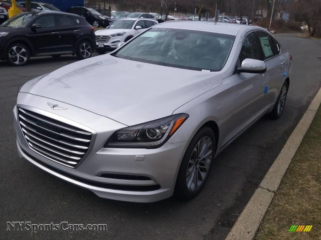 2017 Genesis G80 AWD - Santiago Silver / Black Monotone photo #1