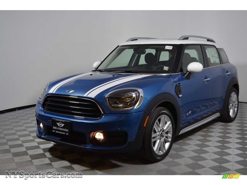 Island Blue Metallic / Carbon Black Mini Countryman Cooper ALL4