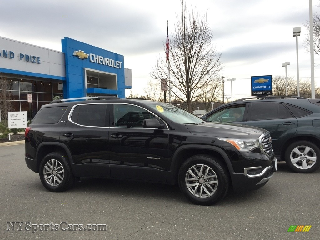 2017 Acadia SLE AWD - Ebony Twilight Metallic / Jet Black photo #4