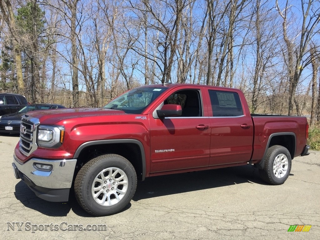 2017 Sierra 1500 SLE Crew Cab 4WD - Crimson Red Tintcoat / Jet Black photo #1