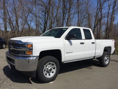Summit White 2017 Chevrolet Silverado 2500HD Work Truck Double Cab 4x4
