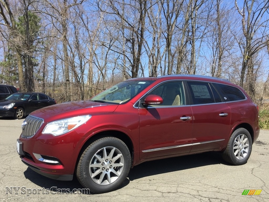 2017 Enclave Leather AWD - Crimson Red Tintcoat / Choccachino photo #1