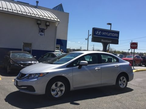 Alabaster Silver Metallic 2014 Honda Civic LX Sedan