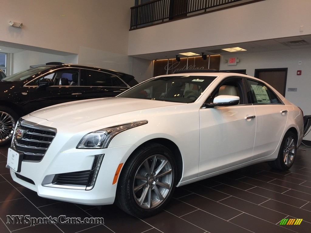 2017 CTS Luxury AWD - Crystal White Tricoat / Light Platinum w/Jet Black Accents photo #1