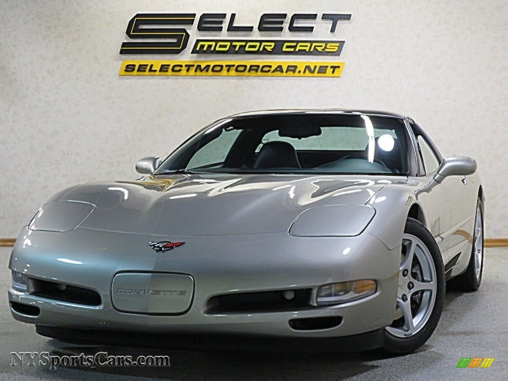 2000 Corvette Coupe - Light Pewter Metallic / Black photo #1