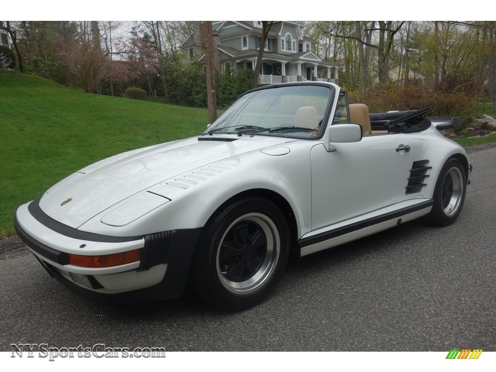 1989 911 Carrera Turbo Cabriolet Slant Nose - Grand Prix White / Cashmere Beige photo #1