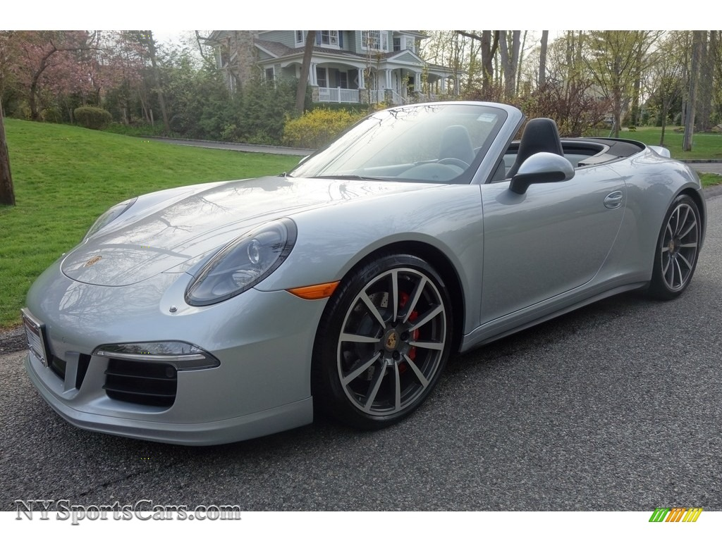 2014 911 Carrera 4S Cabriolet - Rhodium Silver Metallic / Black/Platinum Grey photo #1