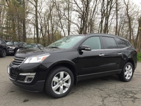 Mosaic Black Metallic 2017 Chevrolet Traverse LT AWD