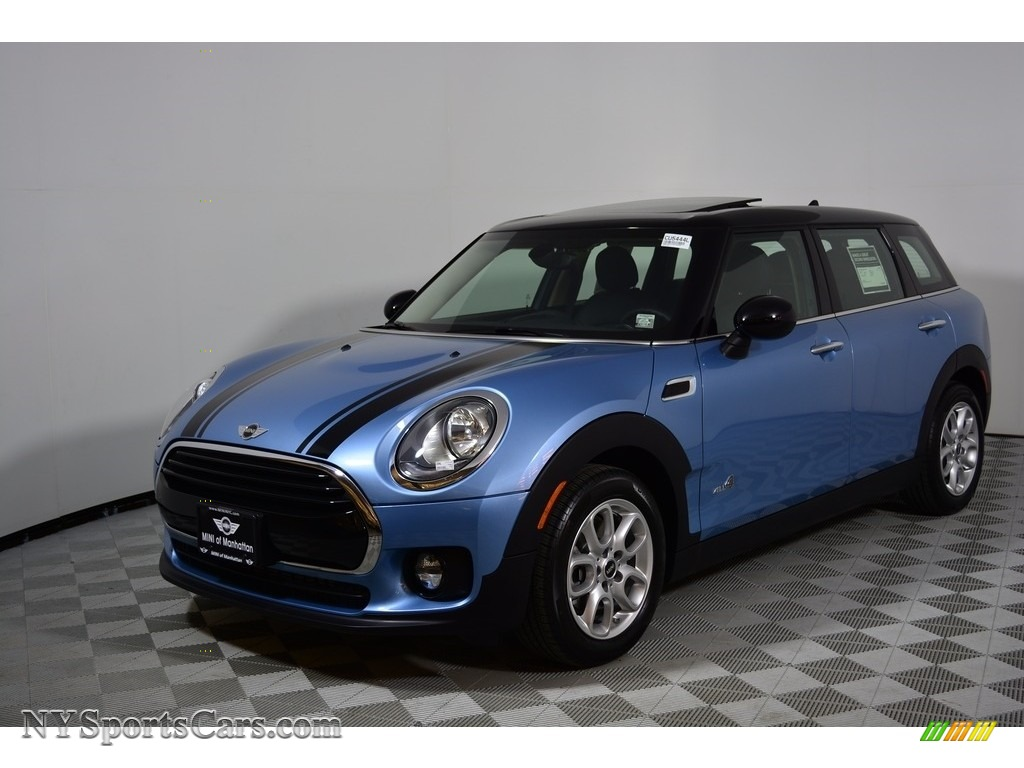 2017 Clubman Cooper ALL4 - Digital Blue Metallic / Carbon Black photo #1