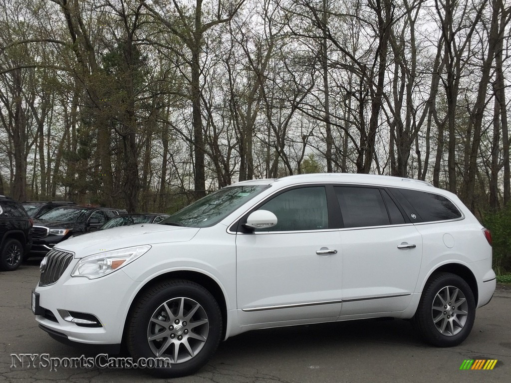 Summit White / Ebony/Ebony Buick Enclave Leather AWD