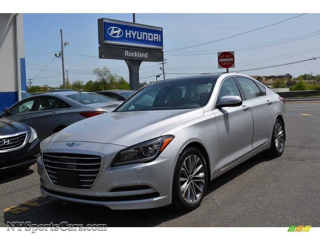 2015 Genesis 3.8 Sedan - Santiago Silver / Black photo #1