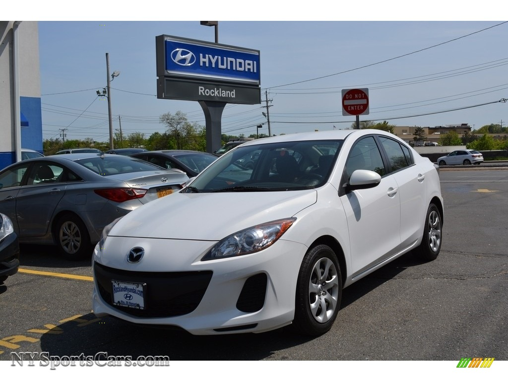 2012 MAZDA3 i Sport 4 Door - Crystal White Pearl Mica / Black photo #1