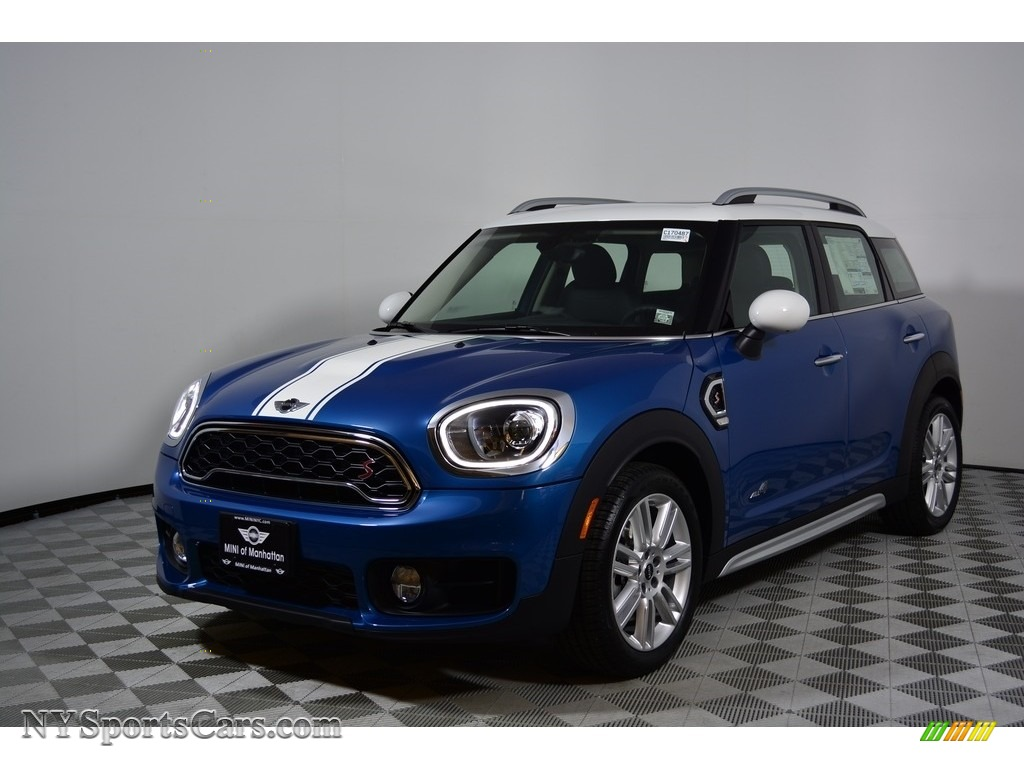 Island Blue Metallic / Carbon Black Mini Countryman Cooper S ALL4