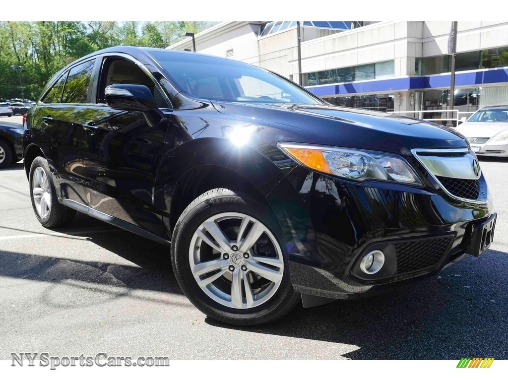 2014 RDX Technology AWD - Crystal Black Pearl / Parchment photo #1